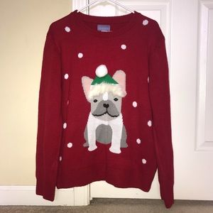 RED DOTTED DOG CHRISTMAS SWEATER